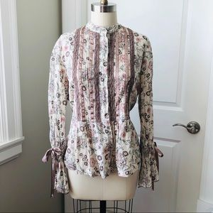 APRIL CORNELL Floral Print Romantic Blouse